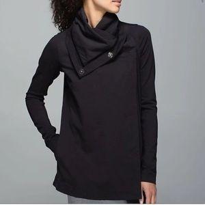 lululemon Black Savasana Wrap Jacket ombré lining